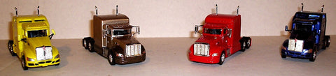 #T-100123  KW T-660 Yellow / Pete 386 Pewter & Brown/ Pete 386 Red / KW T-660 Blue