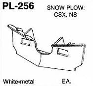 #DW-PL-256 SNOW PLOW: CSX, NS  1 EA.