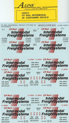 #25813 - CP Rail Intermodal (White Containers - does 6-48 ft)