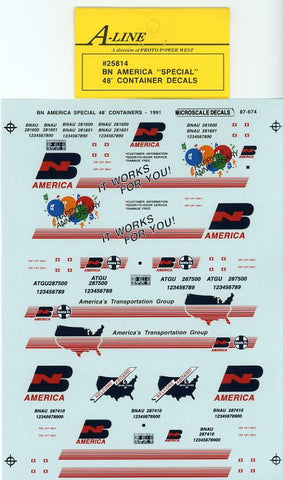 "#25814 - BN America ""Special Scheme"" (White Containers - does 3-48 ft)"