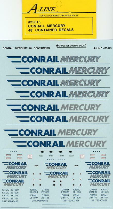 #25815 - Conrail Mercury 48 ft (White Containers - does 3-48 ft)