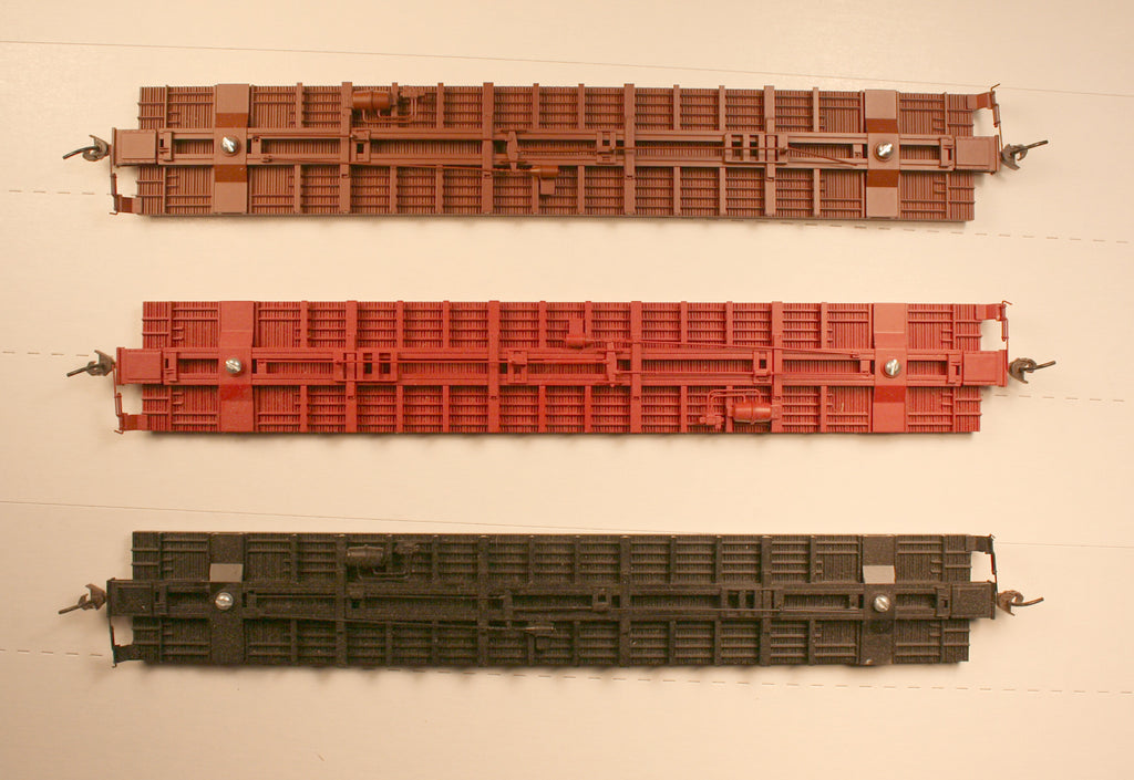 #29303 Br  60 ft box car underframe (brown)
