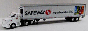 #T-SPT-3176 		Peterbilt 386 Day Cab Tractor w/53 ft Reefer Trailer - Safeway