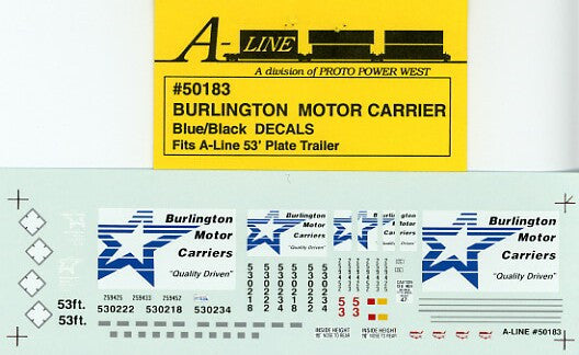 #50183 - 53' Plate Trailer - Burlington Blue & Black