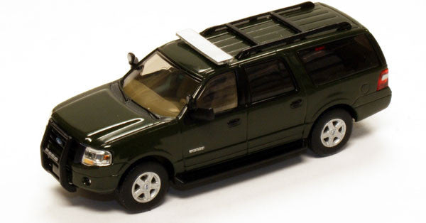 #RPT-7607.25          2007 Ford Expedition EL SSP Green SSP vehicle/modern light bar, black push bar/matte-silver painted rims