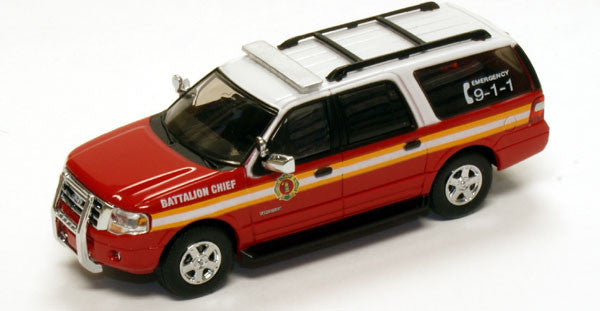 #RPT-7607.79         Ford Expedition EL SUV Red Fire Battalion Chief SUV