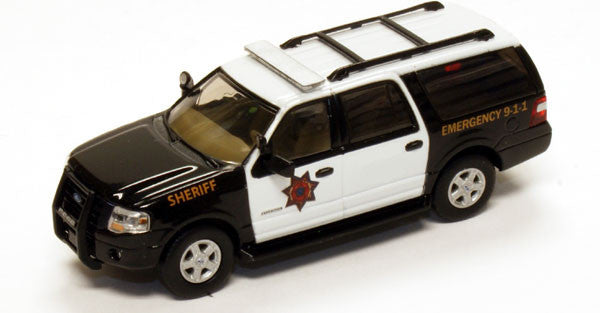 #RPT-7607.77               Ford Expedition EL SUV Black Sheriff Police