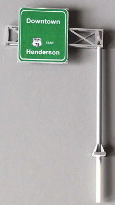 #HS-SK1 - Highway Cantilever Sign Kit, 1-Lane - HO Scale