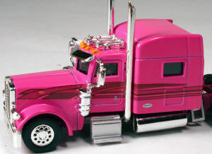 #T-6007 		Peterbilt 389 with 70 in Standard Sleeper Pink