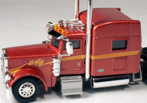 #T-6009 		Peterbilt 389 with 70 in Standard Sleeper Bronze-Brown