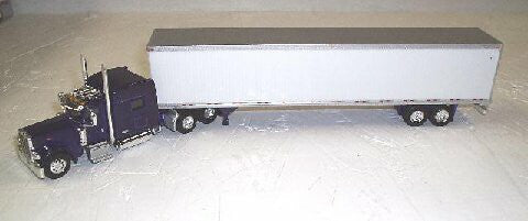 #T-7002 	Purple Peterbilt 389 with 70 in Sleeper with 53 ft Dry Van