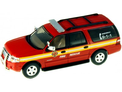 #RPT-7607.R2  2007 Ford Expedition EL SSP Red – Fire Rescue