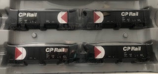 Ath-76420 - HO RTR  CP  40' Outside Braced Ballast Hopper - removable loads  (set of 4)