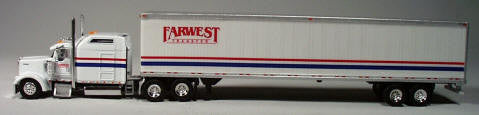 #T-8011         	Farwest Kenworth W900L with 86 in Sleeper/53 ft Dry Van)