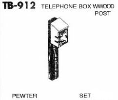 #DW-TB-912 	Telephone Box w/Wood Pole 1 Set