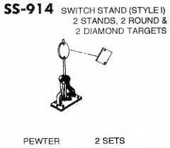#DW-SS-914 	Switch Stand 2 Sets