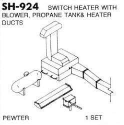 #DW-SH-924 	Switch Heater w/Blower, Propane Tank & Ducts 1 Set
