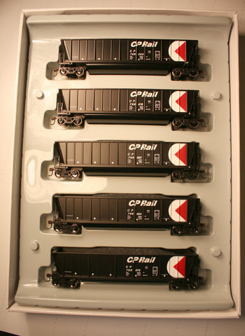 Ath-94916 - HO RTR CP Rail Bathtube Coal Gondola - removable loads  (set of 5)