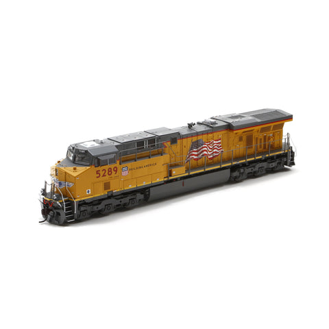 Ath G69764 - HO ES44AC w/DCC & Sound, UP/Flag #5289
