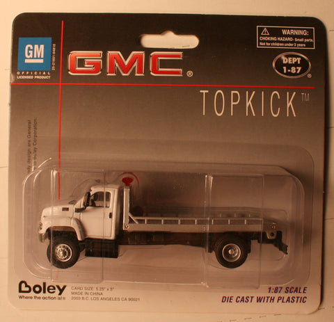 B #013  GMC  Wht   Boley Depart. 1-87 vehicles  roll-on-roll-off
