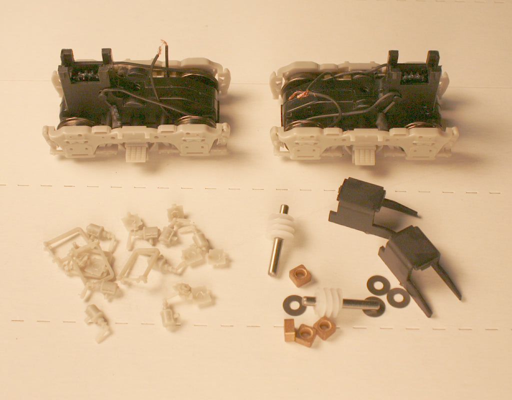 #92021 - Power Trucks:  Athearn Genesis Blomberg trucks (1-pair complete with all details)