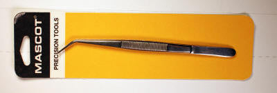 "#HT-107 - Tweezers-sharp point-curved 6"" long"
