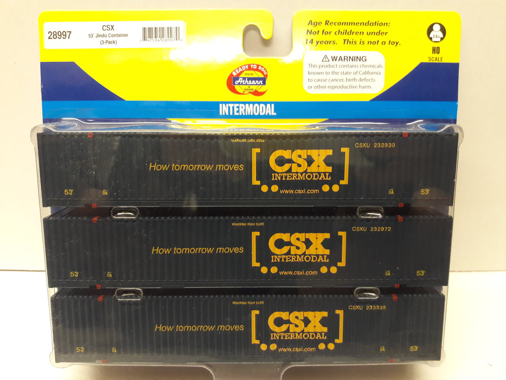 28997 CSX 53' Jindo Container (3-Pack)