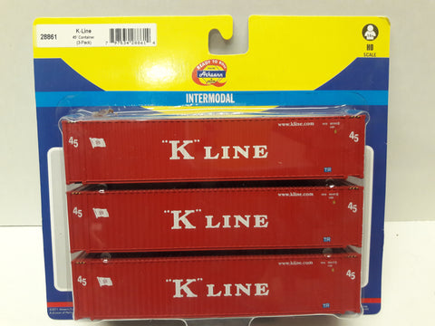 Ath-28861 K-Line 45' Container (3-Pack)