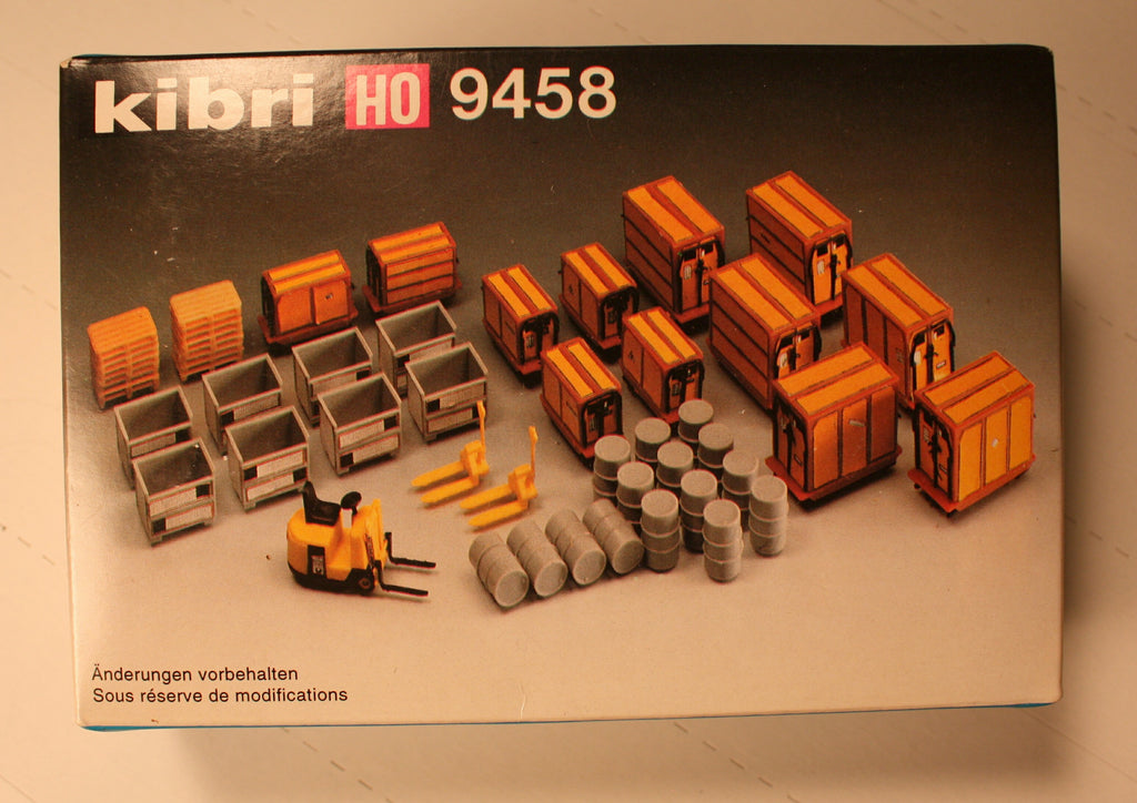 Kibri #9458 Freight dock loading equipment (plastic kit)