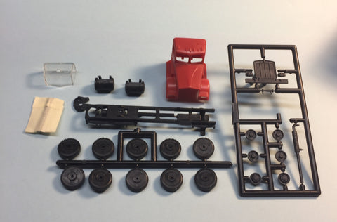 #5630R - HO Kenworth Red Kit  (three axle chassis)