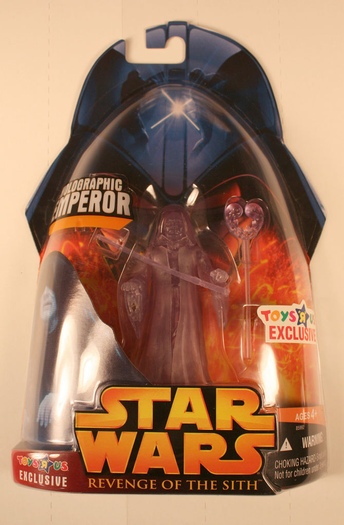 SW 311619 holographic emperor palpatine  toys R us exclusive