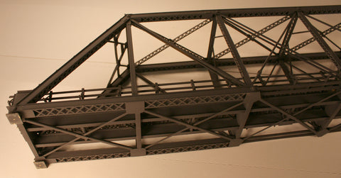 OM Pin-Connected Bridge #OMI-1346/HO Scale - Brass orig. box included very good cond. Painted black