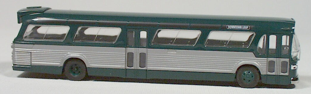 BU-44500  Bush-American fish bowl bus  (green) HO 1:87 scale