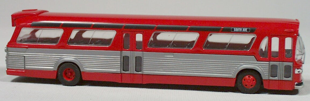 Busch  #44501  American fish bowl bus  (red) HO 1:87 scale