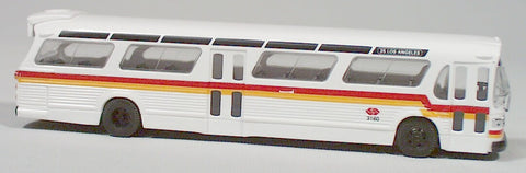 BU-44502  Bush-American fish bowl bus  (RTD line/Los Angeles) HO 1:87 scale