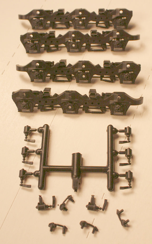 #ATHSF-103,   SD40-2, T-2  Sideframe Set (plastic)- Fits Athearn Trucks