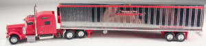 #T-SP-013 	Peterbilt 389 w/Sleeper/53 ft Chrome Reefer Trler - Priority
