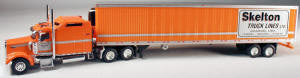 #T-SP-025 	Kenworth W900L w/Sleeper/53 ft Reefer Trailer - Skelton