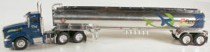 #T-SP-169 	Peterbilt 389 Day Cab w/Chrome Tanker-Gulf/Flyer Transp..
