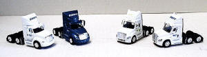 #T-SP-2003 Tractor 4-Pack-Swift 2 Each Cascadia & Prostar (4 Different Logos)