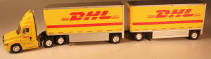 #T-SPT-3120   		DHL Freightliner Cascadia 28 ft double trailers