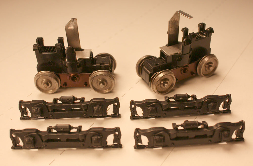 #PT41023-4 - #PT41023-4   Power Trucks For: Athearn Switchers  SW7, S-12 Baldwin