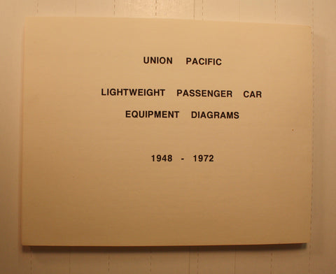 BK148   UP  Lightweight Passenger Car Equipment book (1948-1972)