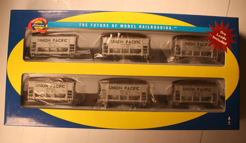 Ath-87048 - HO RTR UP 24' Ore Cars - removable loads  (set of 6)