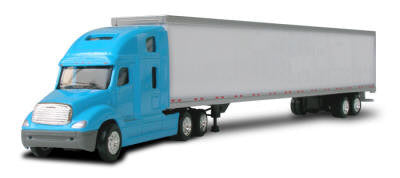 #T-702 		  Freightliner Columbia Tractor Blue w/53' Box Trailer