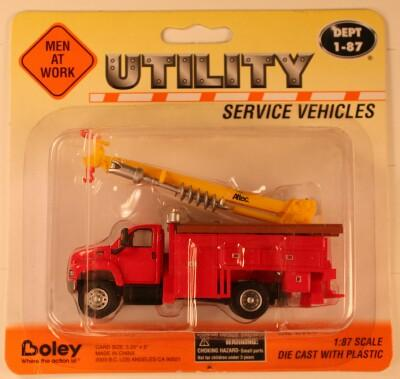 B #002  GMC  Red   Boley Depart. 1-87 vehicles  utility