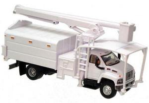B #011 Boley Depart. 1-87 vehicles  tree trimer  GMC  (white)