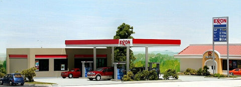 #EX-001 - Modern Exxon Service Station Kit in HO Scale