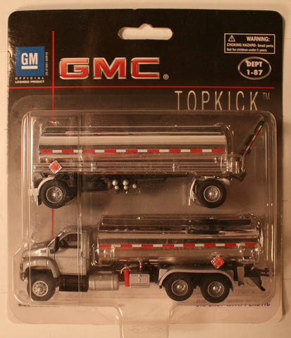 Bol-3018-66       GMC cab  (Silver)    Boley Depart. 1-87 vehicles  double tanker