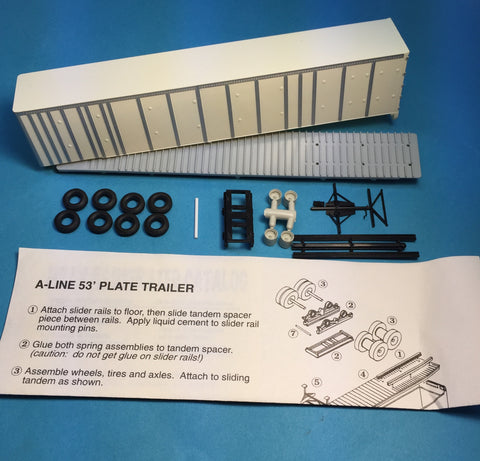 #50501 - 53' Wabash Nat'l Plate Trailer Painted White w/Silver Ribs